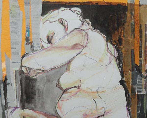 Zwangere slapende vrouw