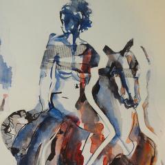 Vrouw en paard